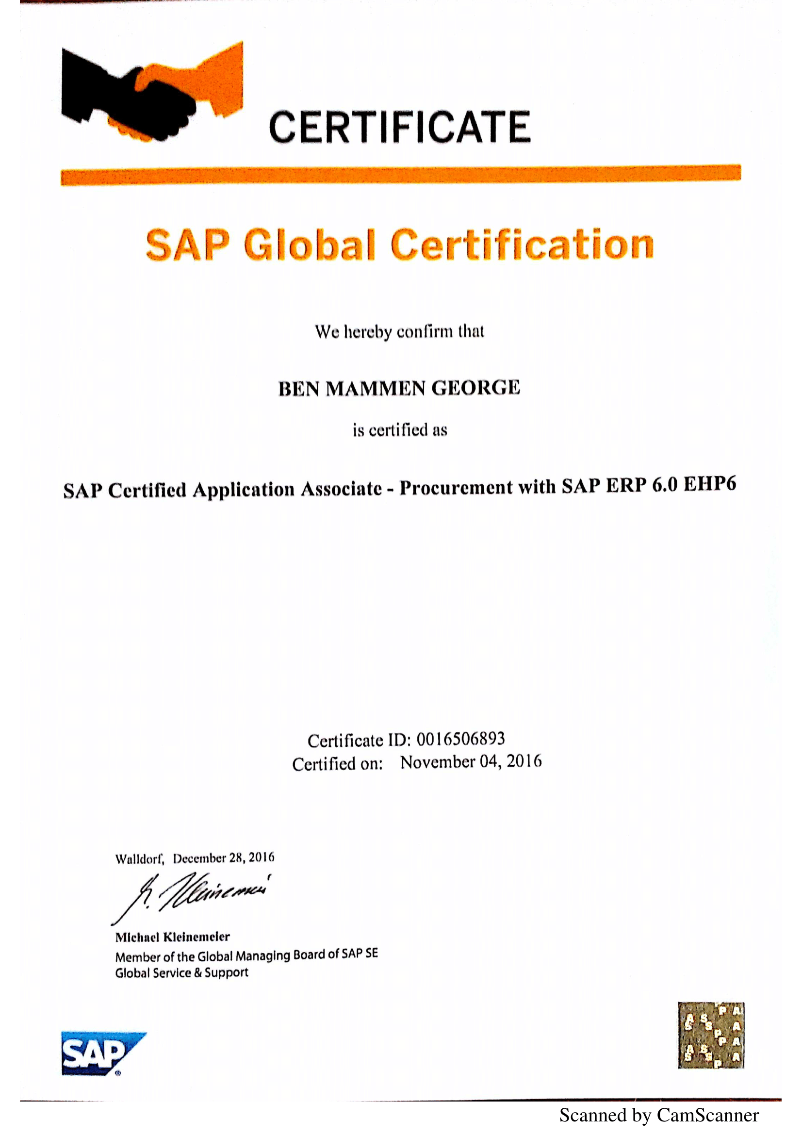 Testimonials the smart hands have cleared my sap mm certification with 91 i am extremely thankful for your video tutorialthat helped me to understand various aspects thoroughly baditri Image collections